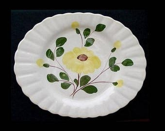 "Blue Ridge Platter YELLOW NOCTURNE 13.75 x 11.75"" Deep Well Style Southern Potteries Colonial Dinnerware Excellent! (B4) 6935"
