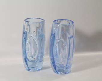Gorgeous vase by Rudolf Schrotter for Sklo Union, Bullet vase, lens vase