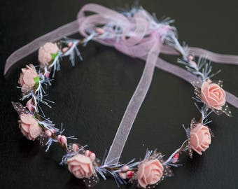 Wreath pink shabby chic