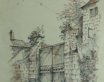 """Pastels and chalks """"Portal in Périgord"""""""