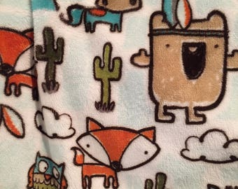 Bath towel/apron - forest animals