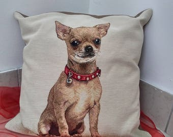 Lovely and marvellous pillow with chiwawa(or pincher) Handmade