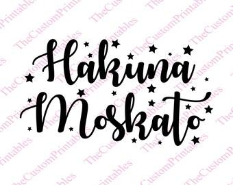 Hakuna, Moscato, Star, Stars, SVG, Cut File, Vector, Cricut Files, Silhouette Files, Iron on Transfer, Printable