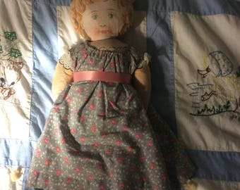Vintage Cloth Doll all Original, Very Good Condition, Sleep Awake Toys