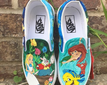 Disney princess painted shoes