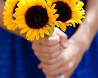 """Sunflower """"toss"""" bouquet"""