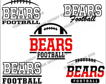 Bears Football Pack Bundle Files - SVG, DXF, EPS, Silhouette Studio, Vinyl Cut Files, Digital Cut Files -Use with Cricut and Silhouette