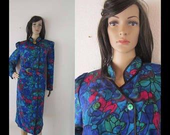True vintage 80s dress lady F robe dress m