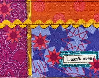 Quilted postcards - I can't even
