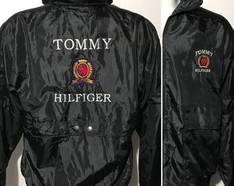 Vintage Tommy Hilfiger Spell Out Jacket M