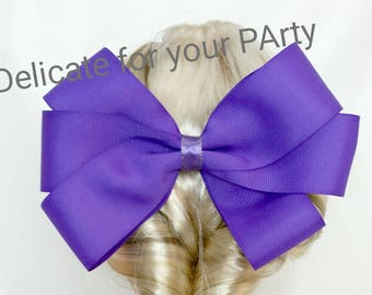 plain color hair bow