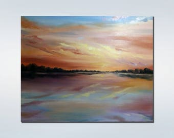 Landscape painting Large Abstract Painting  Large Wall Art Contemporary Art Original Oil Painting  Ideas gift