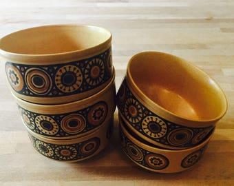1980s Bacchus Kilnware bowls. 1970s