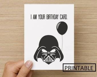Inventive image pertaining to star wars printable birthday cards