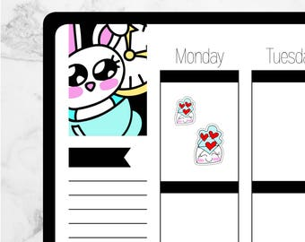 Envelope HappyMail — Hand Drawn Kawaii Planner Stickers