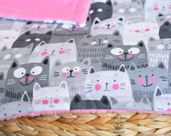 Cat blanket, Fluffy cat blanket throw, Super comfy cat bedding, Pink extra soft blanket, Kitty blanket, Kawaii cat blanket, Cozy bed