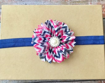Baby Headband/Infant Headband/Newborn Headband/Baby Girl Headband/Flower Headband/Baby Headbands/Toddler Headband/Navy Blue Headband/Baby