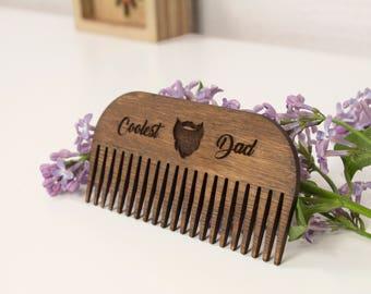 Mustache comb - Rustic comb - Wooden comb - Beard comb - Wood comb - Men comb - Beard comb men - Wooden beard comb - Men beard gift