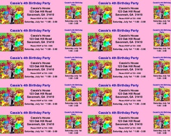 Suicide Squad Harley Quinn Set of 10 Birthday Ticket Invitations Personalized Birthday