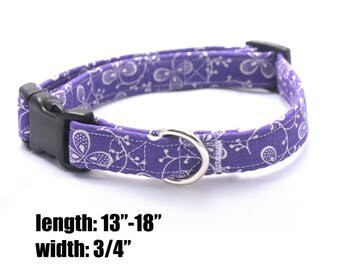 Medium Purple Floral Collar