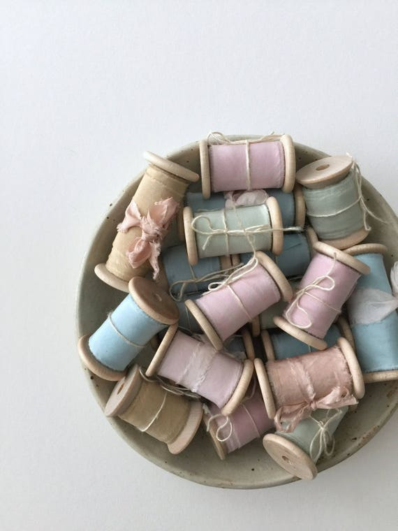 ODDS Plant Dyed Silk Ribbon - slightly flawed natural hand dyed for styling and gift wrapping