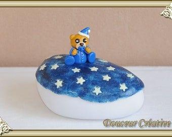 Light blue Teddy bear baby 204002