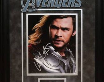 The Avengers - Signed by Chris Hemsworth- Framed Artist Series