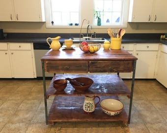 Farm House Kitchen Island (Shipping Included)