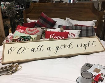To All a Good Night Wood Sign - Farmhouse - Bedroom Decor - Guest Room - Framed Sign - Home Decor