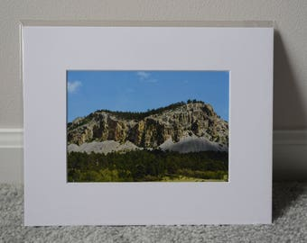 Rocky Mountain Print - White
