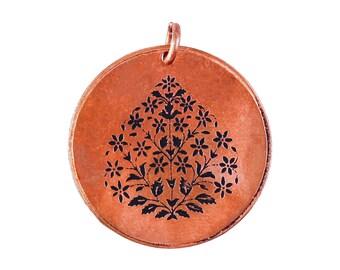 Copper pedant in garden design