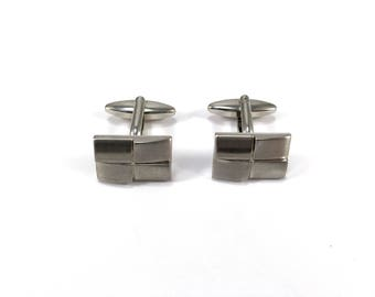 Vintage cufflinks with four rectangle design