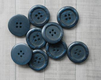 9 big Vintage  Buttons, buttons vintage, plastic buttons, buttons antique, buttons old, set of buttons, round buttons