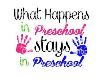 Preschool svg / back to school svg / school cut file / preschool clip art / dxf / eps / pdf / preschool printable / back to school art