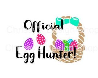 Official Egg Hunter Easter svg cut file / egg hunter svg / easter svg / kids easter svg / dxf / eps / easter clip art / egg hunter clipart
