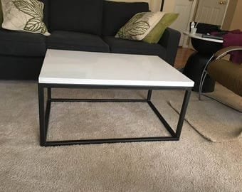 Modern Steel Coffee Table Base Only