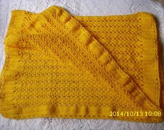 Blanket for pram or bassinet 58X80cm crochet handmade