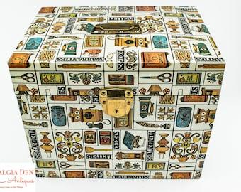 Vintage Metal Storage Box   Ballonoff Porta File   Retro 70s Decor