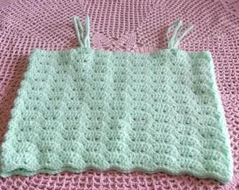 2 years old hand made crochet Green T-shirt