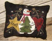 Peace, Love & Joy Pincushion