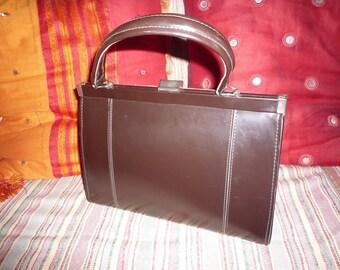 Vintage faux Brown handbag