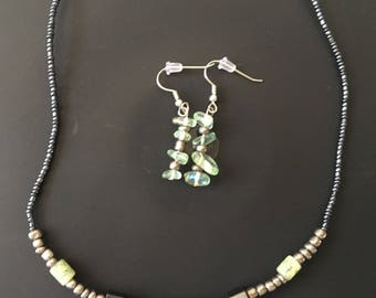 Green/Grey Jewelry Set