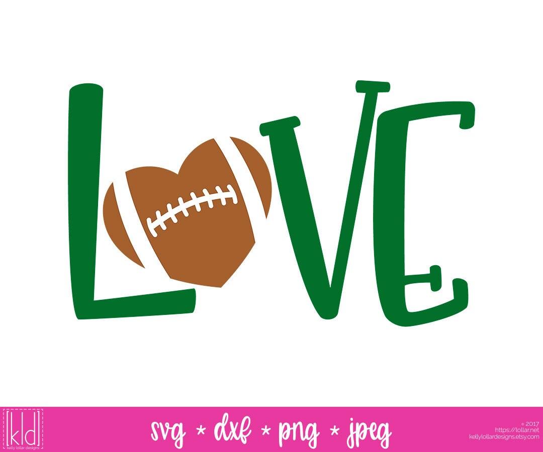 Download Football Love svg Football Heart svg Love Football svg