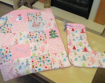 Personalised Christmas sack and stocking