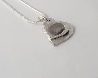 Classic Heart Fingerprint Necklace