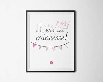 """A4 """"I'm a Princess"""" poster"""