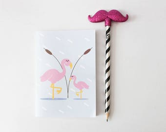 "Handmade notebook ""Flamingo"""