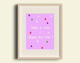 Card Make A Wish & Happy New Year!