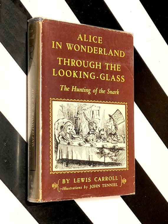 Alice in Wonderland and Through the Looking-Glass by Lewis Carroll (1952) Modern Library hardcover book