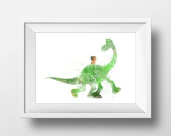 Wall Art Watercolor Good Dinosaur Print,Watercolor Disney ,Nursery Print,Printable Disney,Baby Gift,Room Decor,Party Decor,Digital Print